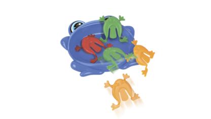 """Настольная игра """"Лягушки - попрыгушки"""" (4 игры в 1) Смешарики"""