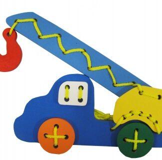Игрушка-шнуровка Автокран