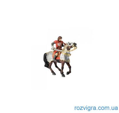 """Фигурка Рыцарь на боевом коне красный """"Bullyland"""""""