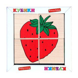 Кубики сложи рисунок «Фрукты — ягоды»