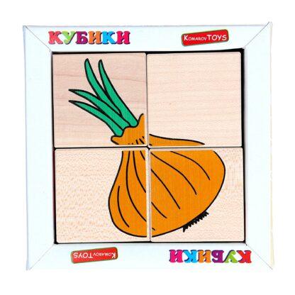 Кубики сложи рисунок Овощи
