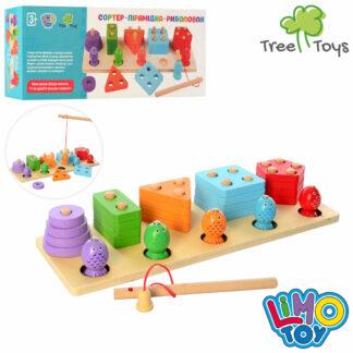 Дерев'яна іграшка Геометрика MD 2177 2 в 1, рибалка