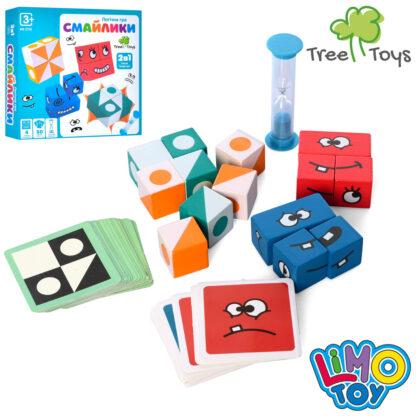 Детская настольная деревянная игра Веселый кубик